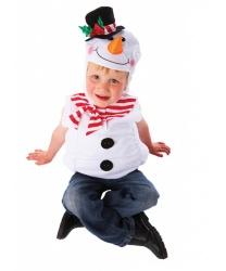 Жилетка с капюшоном снеговика
