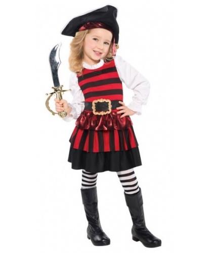 Костюм маленькой разбойницы: платье, шляпа, колготки (Германия)