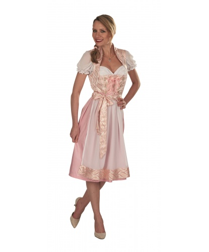 Розовое баварское платье: топ, сарафан, фартук (Германия)
