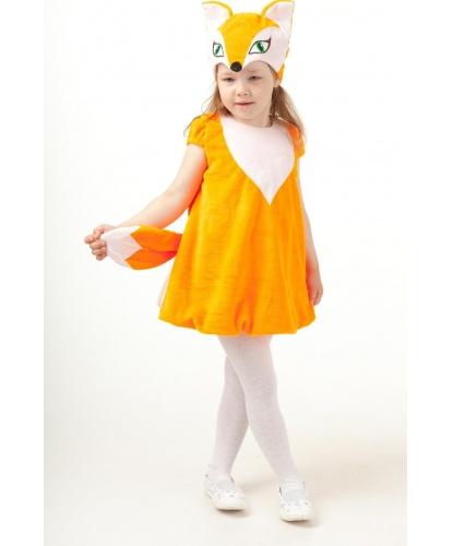 Детский костюм Лисичка: платье, шапочка (Россия)