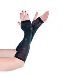 Перчатки без пальцев с паутиной