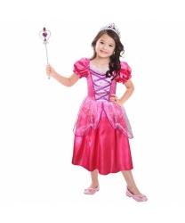 Розовое платье принцессы с аксессуарами