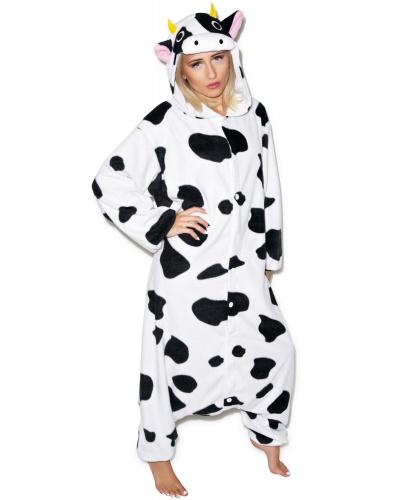 Кигуруми Корова: комбинезон с капюшоном (Китай)