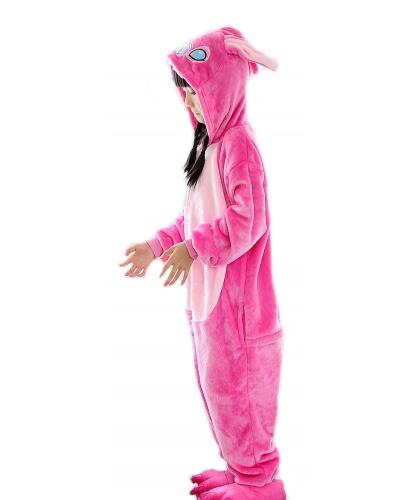 Детский кигуруми Стич (розовый): комбинезон с капюшоном (Китай)