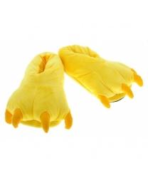 Тапочки Лапы желтые