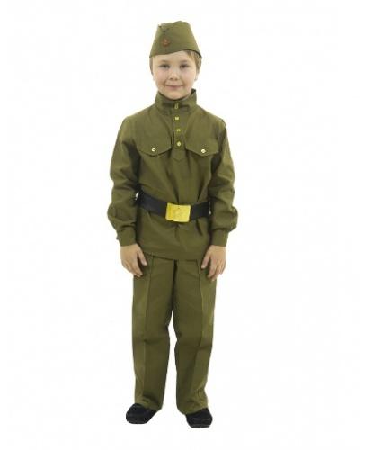 Гимнастерка с прямыми брюками: гимнастерка, брюки, пилотка, ремень (Россия)