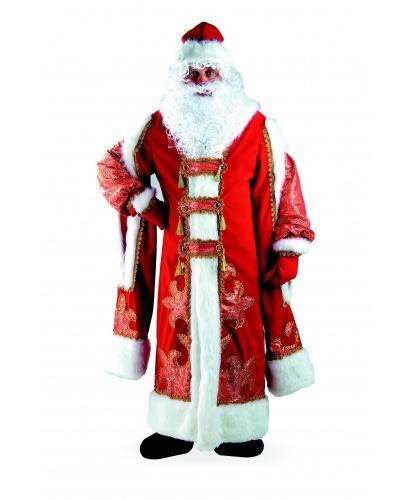 Дед Мороз Царский: шуба, шапка, варежки, парик, борода, мешок (Россия)