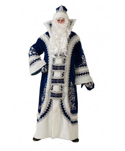 Костюм Деда Мороза Купеческий: шуба шапка борода парик варежки (Россия)
