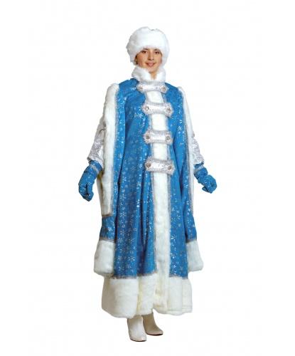 Костюм Снегурочки Боярыни: шуба, шапка, варежки (Россия)
