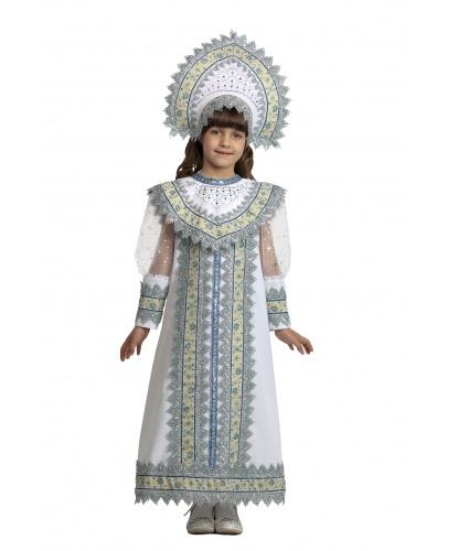 Серебряная снегурочка: платье, оплечье, кокошник (Россия)