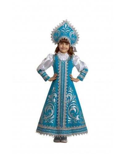 Костюм Снегурочка Русская: платье, кокошник (Россия)