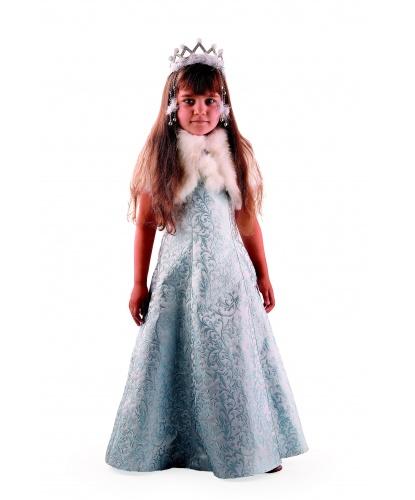 Детский костюм Снегурочка Жемчужная: платье, манто (Россия)