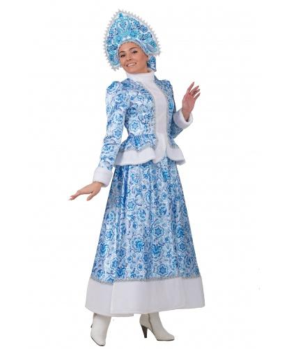 Снегурочка Гжель: кафтан, длинная юбка, кокошник (Россия)
