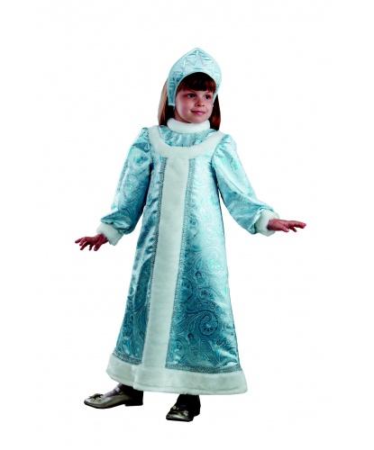 Детский костюм снегурочки шелковый: платье, кокошник  (Россия)