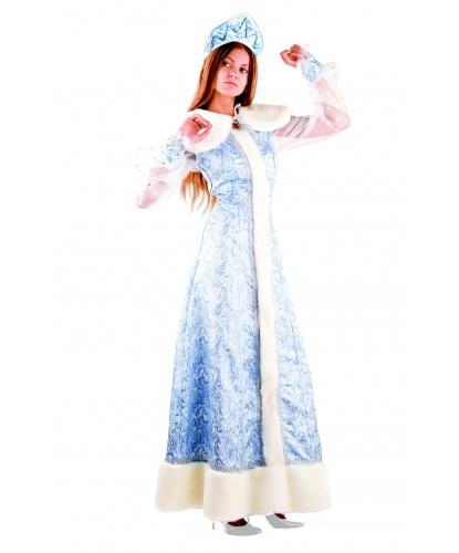 Новогодний костюм Снегурочки : платье, пелерина, кокошник (Россия)