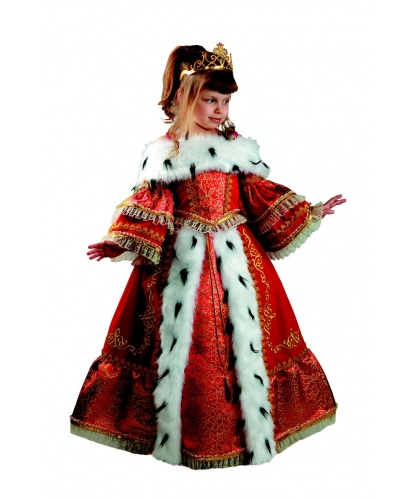 Детский костюм Императрица: корсет, юбка, подъюбник, корона (Россия)