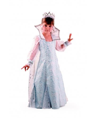 Костюм снежной королевы: платье накидка корона (Россия)