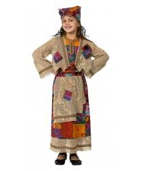 Детский костюм Баба Яга: Блуза, кардиган, юбка с передником,  косынка (Россия)