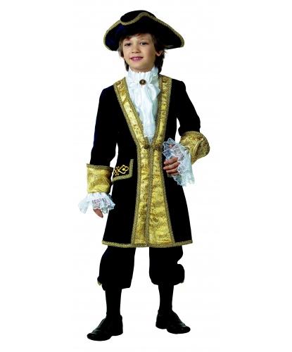 Детский костюм Вельможа: Камзол, бриджи, жабо, манжеты, треуголка (Россия)