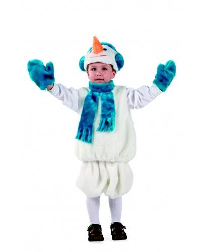 Костюм снеговика: варежки, головной убор,шорты, жилет (Россия)