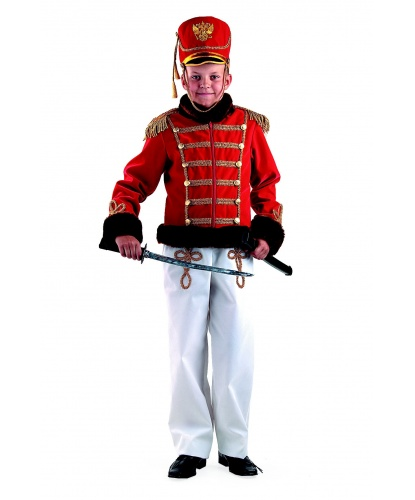 Детский костюм гусарского офицера: мундир, брюки, кивер (Россия)