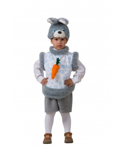 Костюм кролика на малыша: шапка, безрукавка, шорты (Россия)
