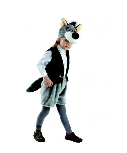 Детский костюм волка (шапка, жилет, шорты): головной убор, жилетка, шорты (Россия)