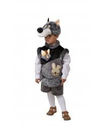 Костюм волка на мальчика: головной убор, жилетка, шорты (Россия)