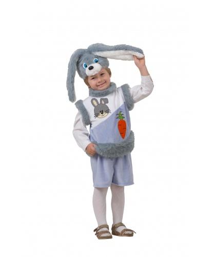 Костюм зайчонка: головной убор, жилетка, шорты (Россия)