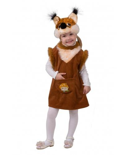 Детский костюм белочки: сарафан, шапочка (Россия)