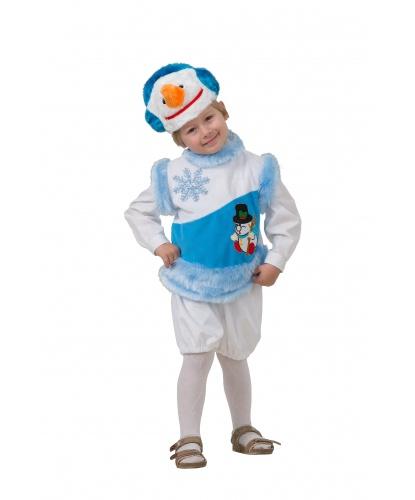 Костюм снежного снеговика: шорты, безрукавка, шапочка (Россия)