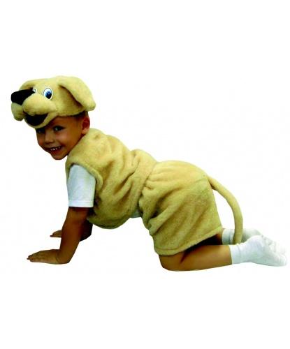 Детский костюм Собака: головной убор, жилетка, шорты (Россия)