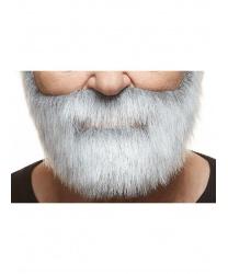 Седая, короткая борода