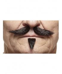 Черные усики с бородкой
