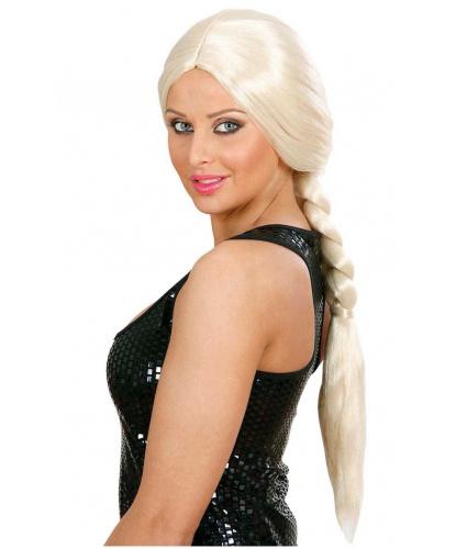 Парик с косой: золотистый блонд (Италия)