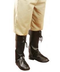Пиратские накладки на обувь черные