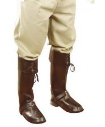Пиратские накладки на обувь коричневые