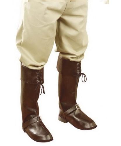 Пиратские накладки на обувь коричневые, цвет коричневый (Италия)