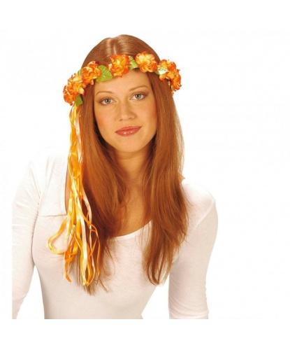 Венок из оранжевых цветов                                                 Окружность 56-57 см