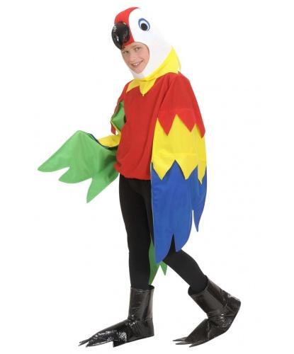 Детский костюм попугая: маска-капюшон, кофта, накладки на обувь (Италия)