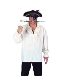 Белая пиратская рубаха