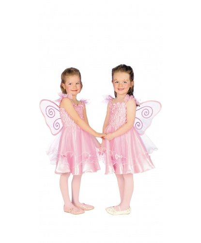 Детский костюм розовой феечки: платье (Германия)