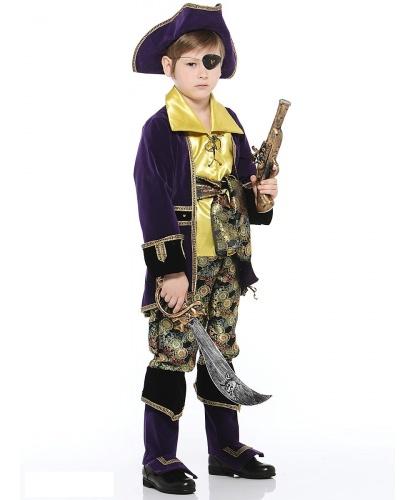 Костюм Капитан пиратов: брюки с сапогами, камзол, мушкет, наглазник, пояс, рубашка, сабля, шляпа (Россия)