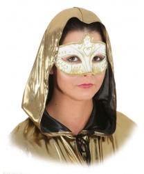 Маска белая с золотым узором