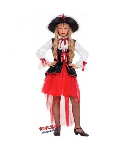 Костюм пиратки-покорительницы морей: рубашка, жилетка, юбка, шляпа (Италия)