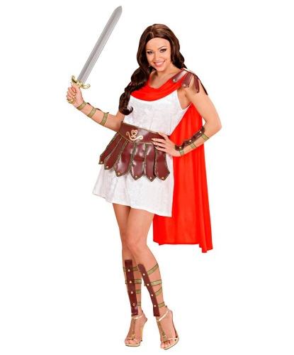 Женский костюм гладиатора: платье с накидкой, пояс, гетры, манжеты (Италия)