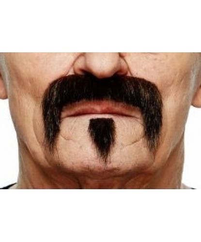 Усы и бородка коричнево-черные ()