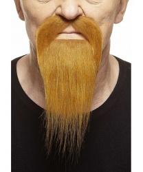 Рыжая узкая борода с усами