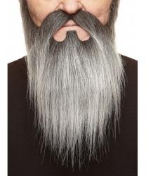 Борода и усы с проседью