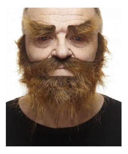 Коричневая лохматая борода и брови (Литва)
